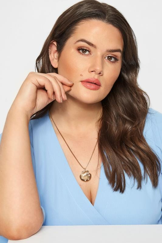 Plus Size Jewellery Gold Shell Necklace
