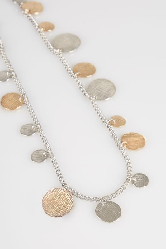 Gold & Silver Long Coin Necklace