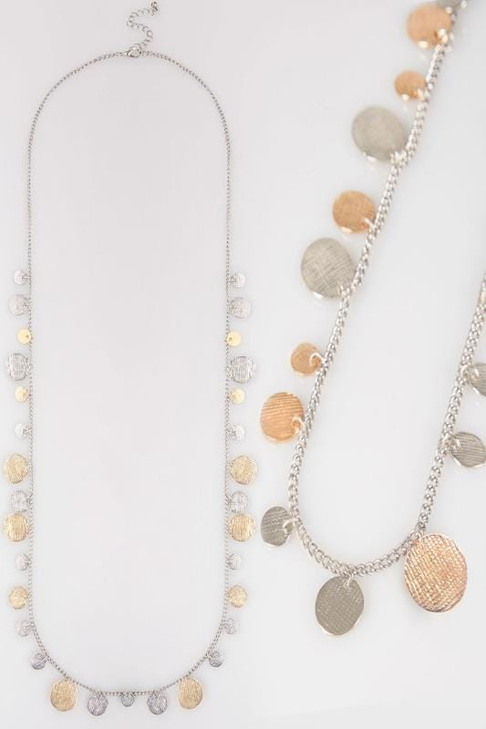 Gold & Silver Coin Necklace