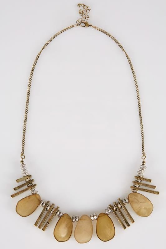 Gold Statement Acrylic Necklace