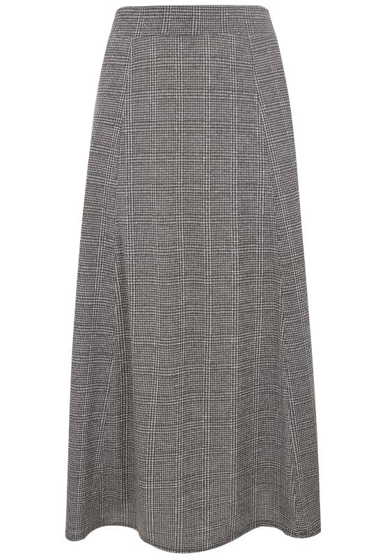 Tallas Grandes Faldas largas Grey Checked Maxi Skirt