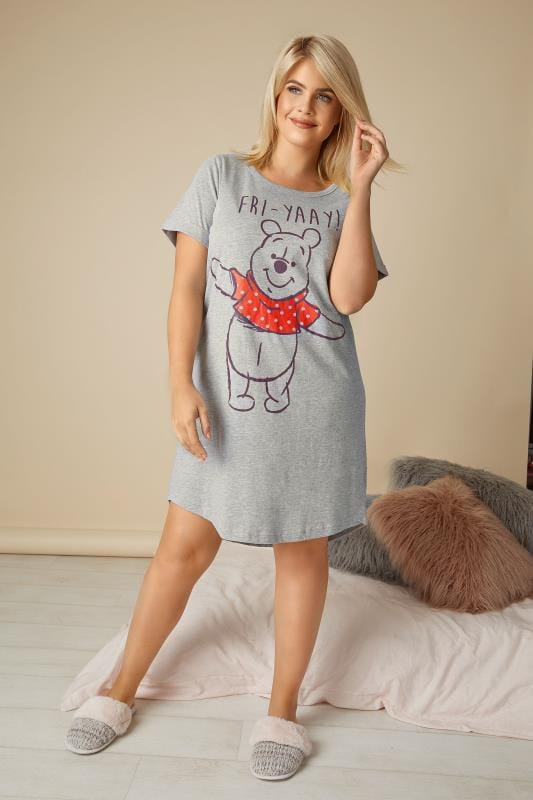 Grey Disney Winnie The Pooh 'Fri-Yay' Nightdress