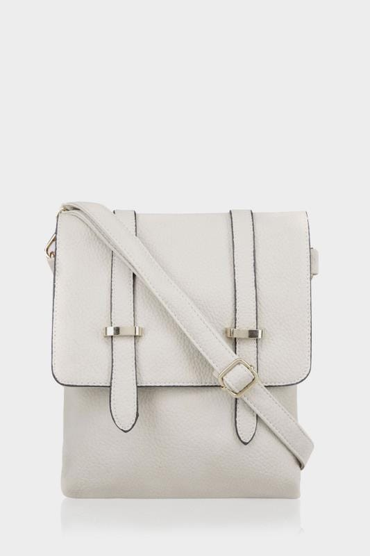 Grey Foldover Cross Body Bag