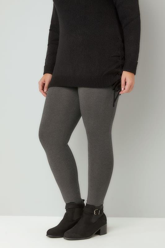 Grey Marl Full Length Leggings
