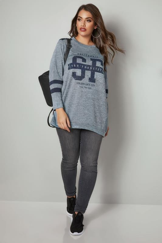 Grey & Navy 'San Francisco' Sweat Top