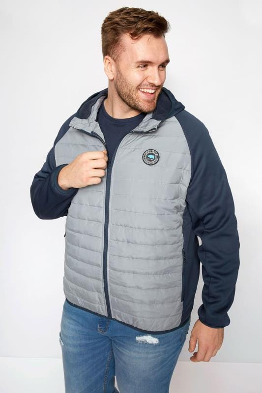 Jackets BadRhino Grey Padded Sports Jacket 200890