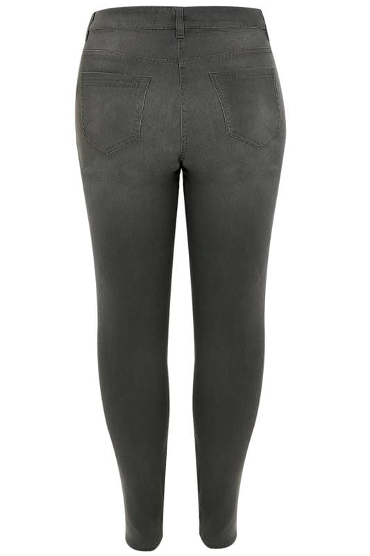 Grey Washed Super Stretch Skinny Jeans