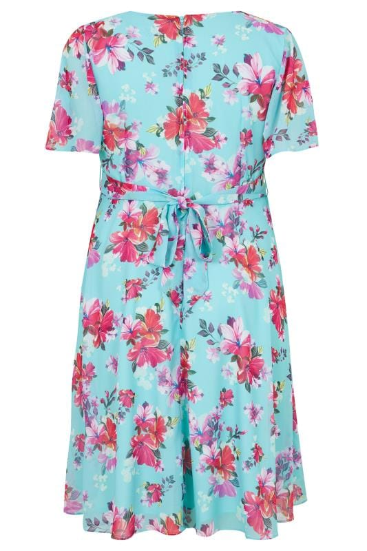 HELL BUNNY Blue Hibiscus Primavera Dress