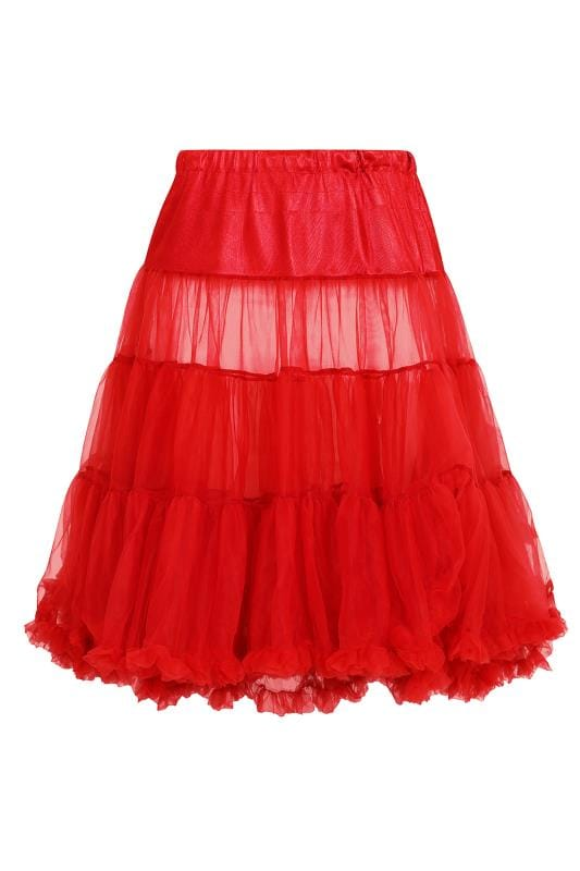 HELL BUNNY Red Petticoat Flare Skirt
