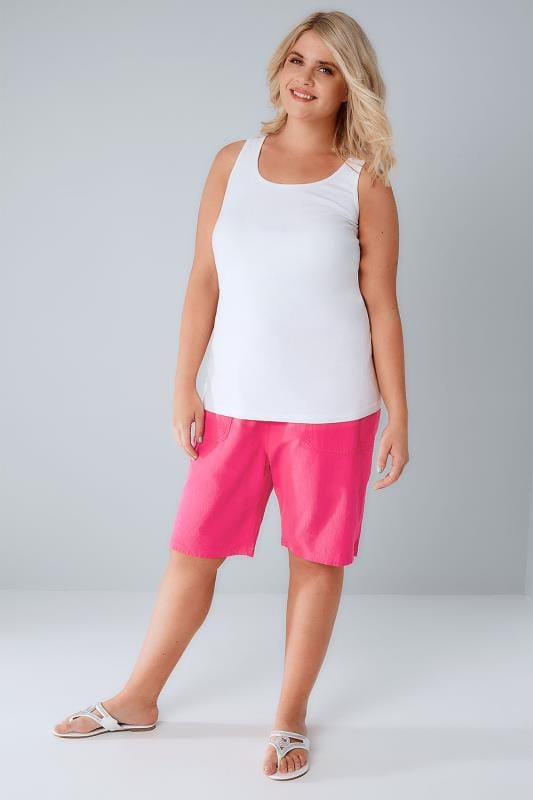 Hot Pink Cool Cotton Pull On Shorts
