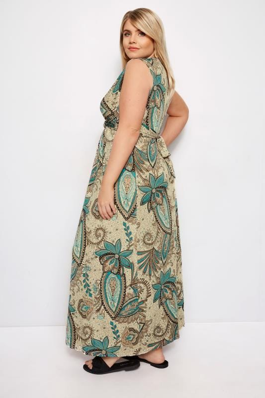 IZABEL CURVE Brown Paisley Maxi Dress