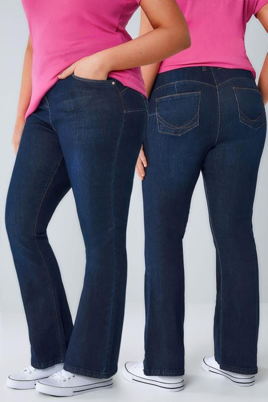 Bootcut & Flare Jeans Indigoblau Bootcut SHAPER Jeans 101596