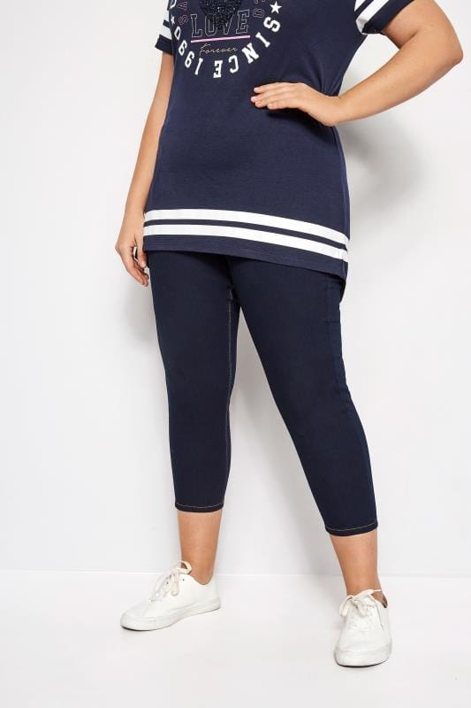 c957128dcd Plus Size Jeggings Indigo Blue Cropped JENNY Jeggings