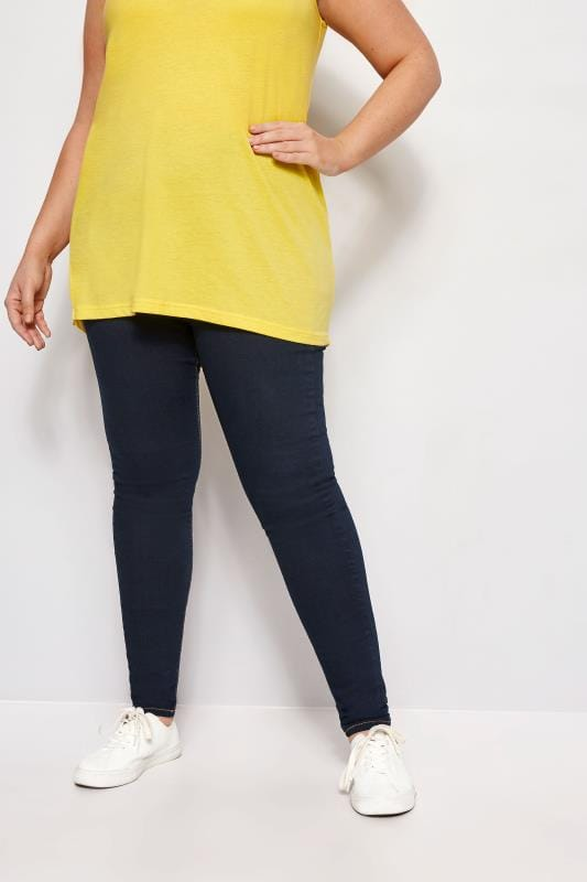 Jeggings Grande Taille Jeggings Extensible JENNY Bleu Indigo