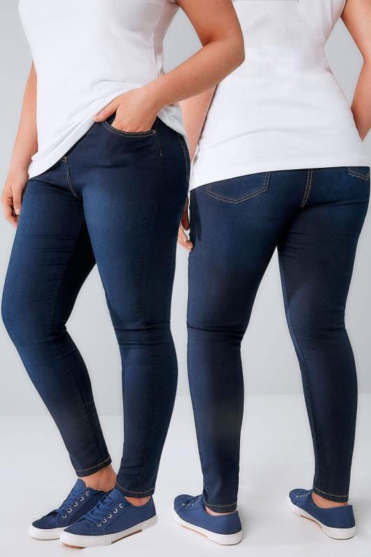 Skinny Jean Coupe Skinny Ultra Extensible Bleu Indigo 052958
