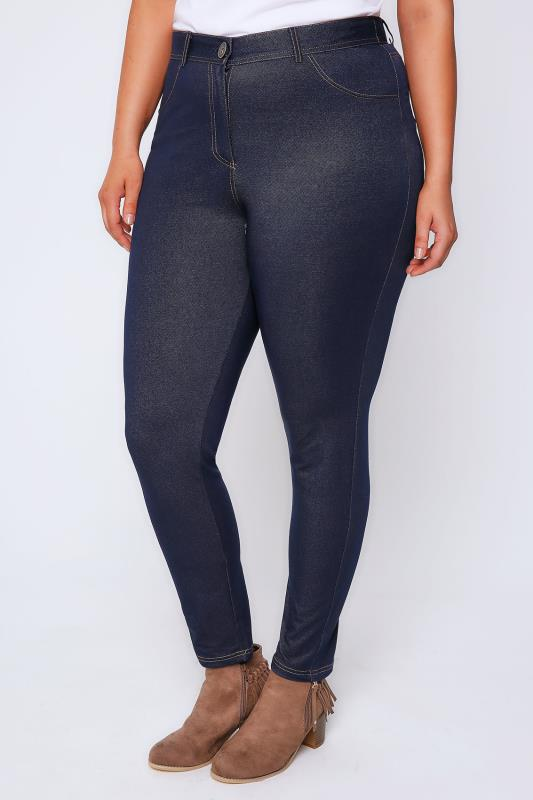 Indigo Jersey Denim Jegging