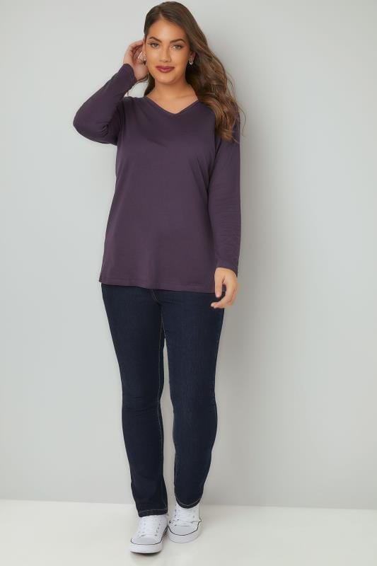 Indigo Pull On Straight Leg RUBY Jeans
