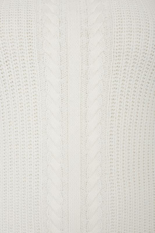 Ivory Cable Knit Jumper, plus size 16 to 36