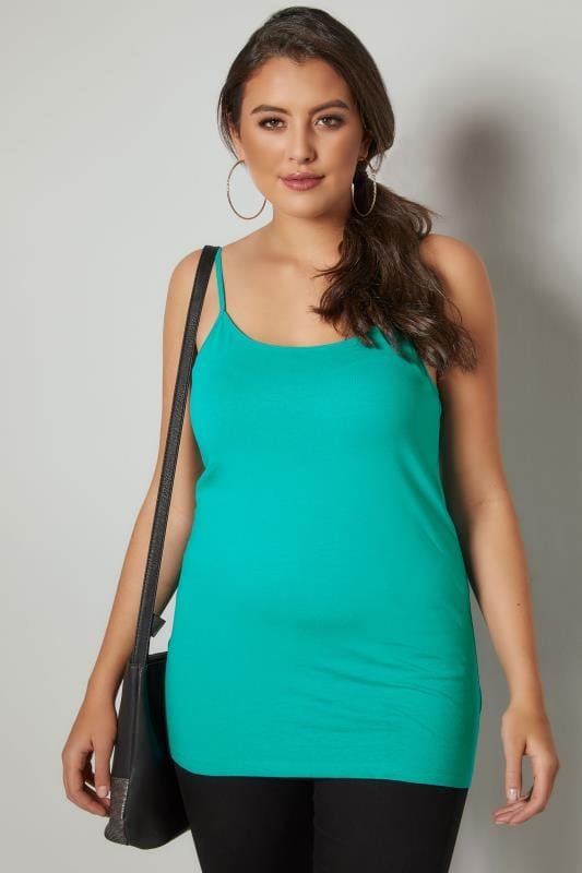 Jade Green Cami Vest Top