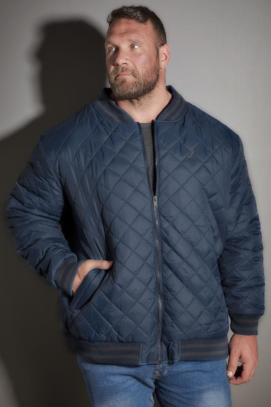 KANGOL Blue Quilted Jacket With Tipped Trims