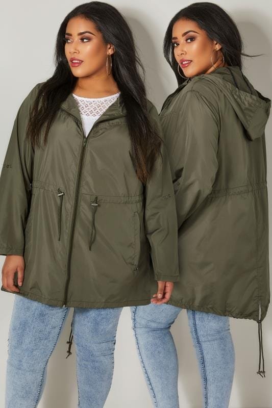 Khaki Green Pocket Parka Jacket