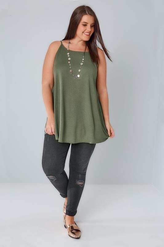 Khaki Swing Cami Top