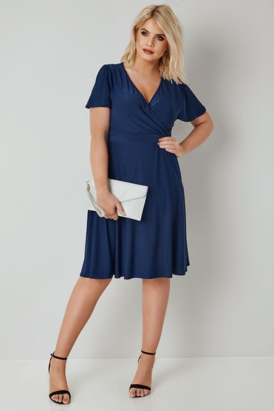 LADY VOLUPTUOUS Navy Lyra Dress