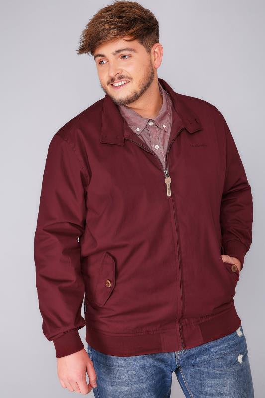 LAMBRETTA Burgundy Harrington Jacket