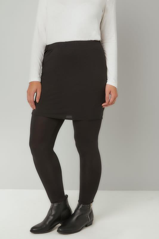 Plus Size Basic Leggings LIMITED COLLECTION Black 2 In 1 Skirt & Leggings
