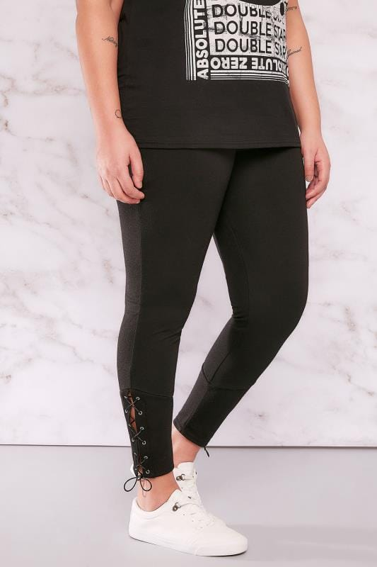 LIMITED COLLECTION Black Leggings With Eyelet Detail