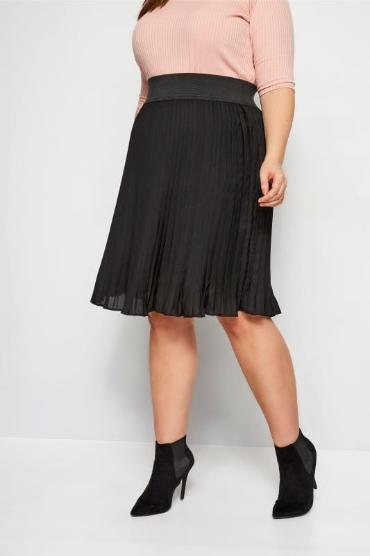 LIMITED COLLECTION Black Pleated Skirt