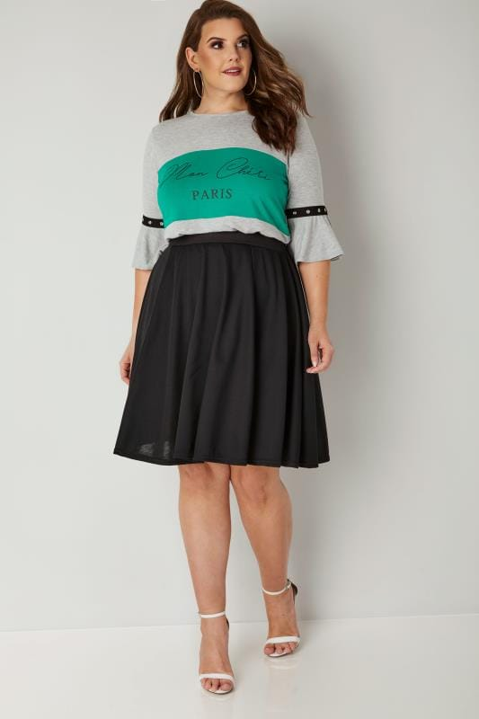 LIMITED COLLECTION Black Skater Skirt
