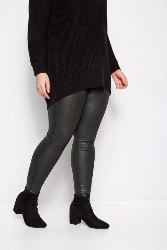 Leggings con diseño Tallas Grandes LIMITED COLLECTION Leggings negros de serpiente