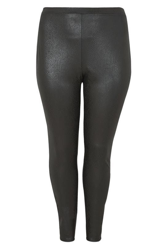 Plus Size Fashion Leggings LIMITED COLLECTION Black Snake Print Leggings
