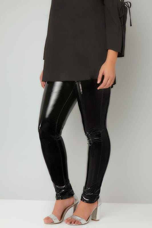 Fashion Leggings LIMITED COLLECTION Black Vinyl Leggings 210247