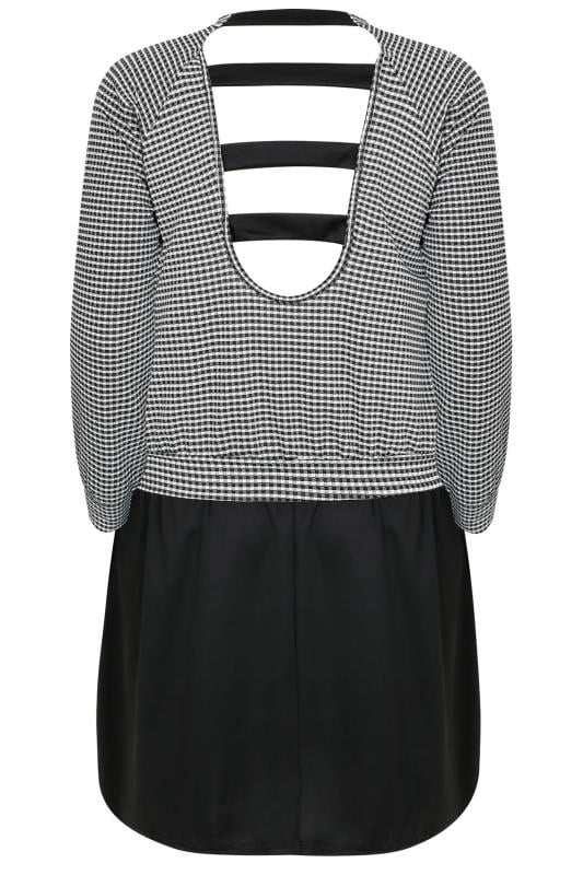 LIMITED COLLECTION Black & White Gingham Dress With Strappy Back