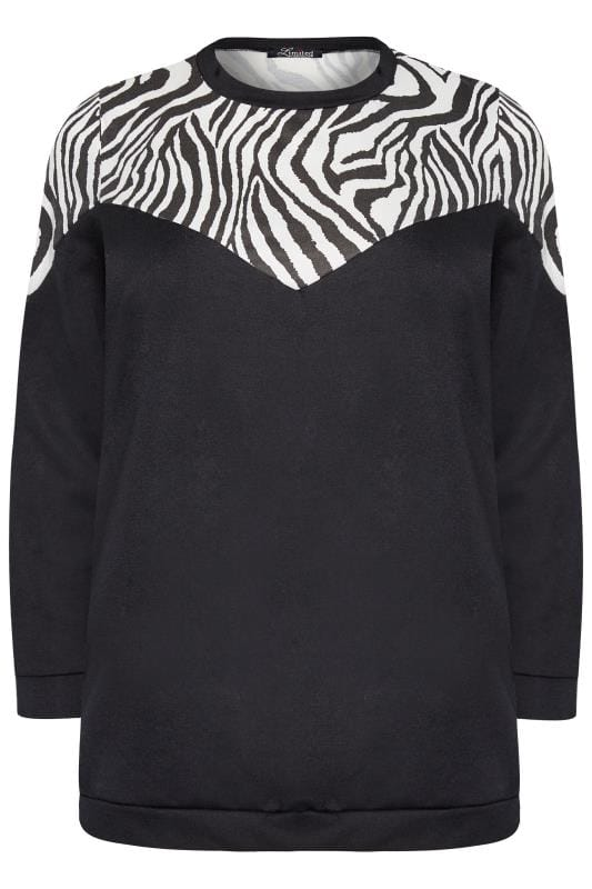 sweatshirts LIMITED COLLECTION Zwart sweatshirt met zebraprint