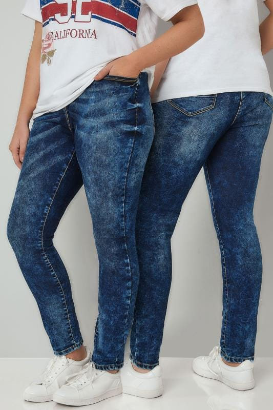 Skinny Jeans LIMITED COLLECTION Blue Acid Wash Skinny Jeans 210180