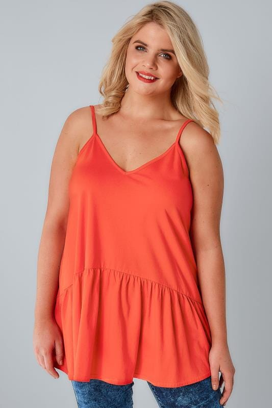 LIMITED COLLECTION Red Cami Top With Frill Hem