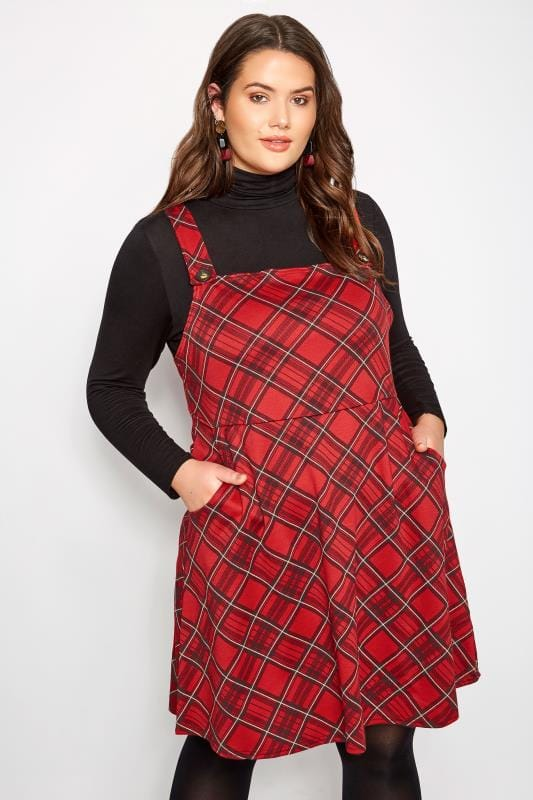 LIMITED COLLECTION Red Tartan Pinafore Dress