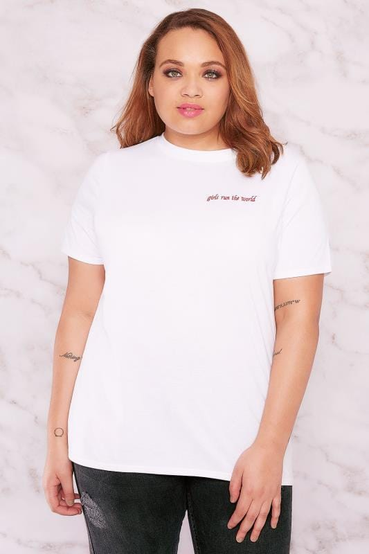 "LIMITED COLLECTION White ""Girls Run The World"" T-Shirt"