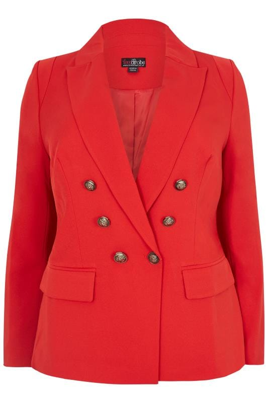 Plus Size Blazers LOVEDROBE Red Blazer