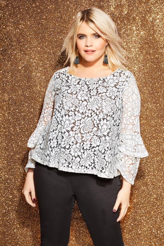 LOVEDROBE White Lace Top