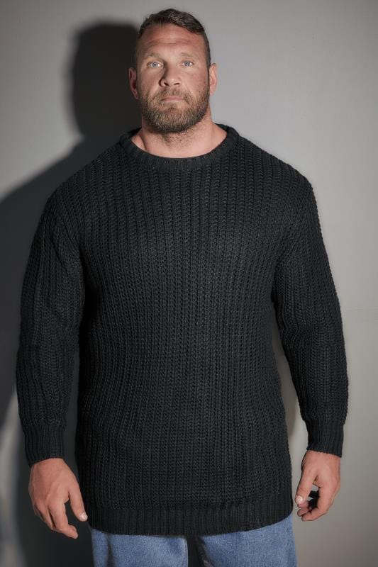 LOYALTY & FAITH Black Chunky Knit Jumper