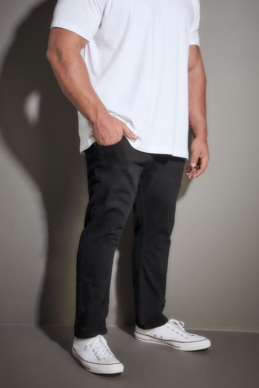LOYALTY & FAITH Black Straight Leg Denim Jeans