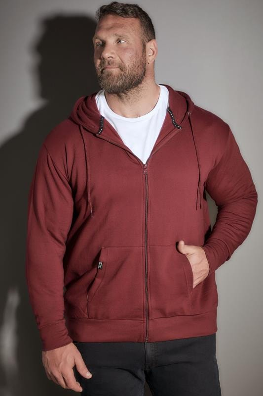 Hoodies LOYALTY & FAITH Burgundy Hoodie With Front Pocket 170519