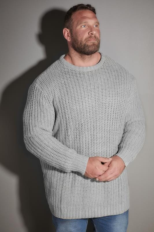 Jumpers LOYALTY & FAITH Grey Chunky Knit Jumper 170539