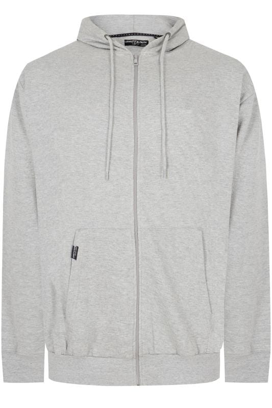 Hoodies LOYALTY & FAITH Grey Hoodie With Front Pocket 170520