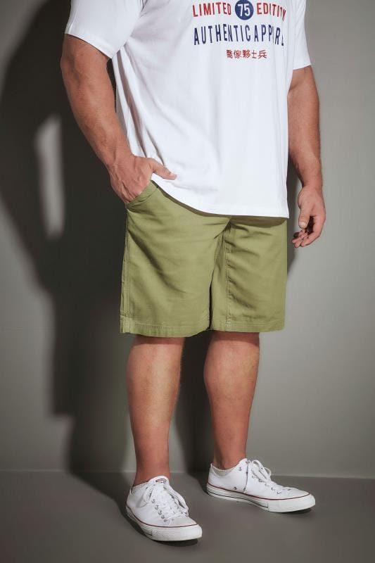 Cargo Shorts LOYALTY & FAITH Khaki Utility Shorts With Canvas Belt 170531