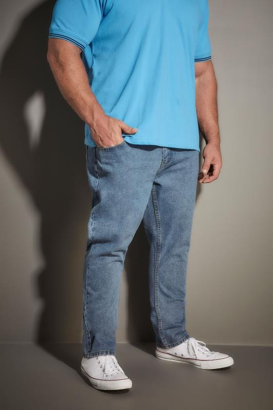 Straight LOYALTY & FAITH Light Blue Stonewash Denim Straight Leg Jeans 170555
